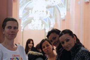 Zvedavé organizátorky Michaela Kubíková, Zuzana Gažíková, Andrea Borsíková a Janka Mrlianová.