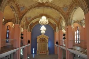 Nádherné farby zrekonštruovanej synagógy v Ružomberku.